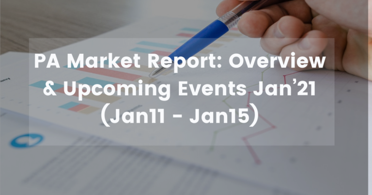 PA Market Report: Overview (Jan11 – Jan15) & Upcoming Events Jan'21