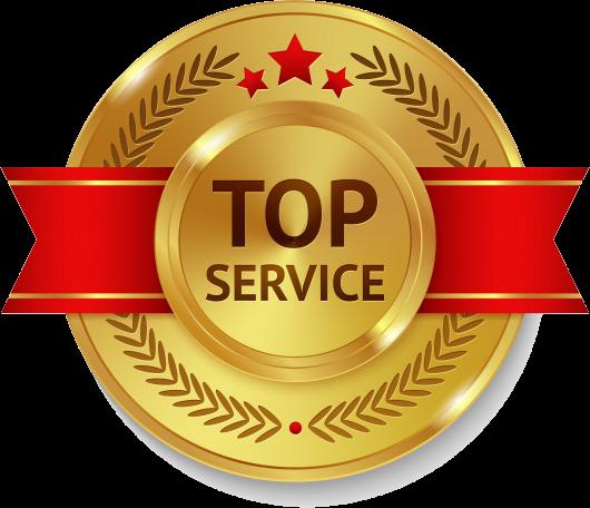 top service badge
